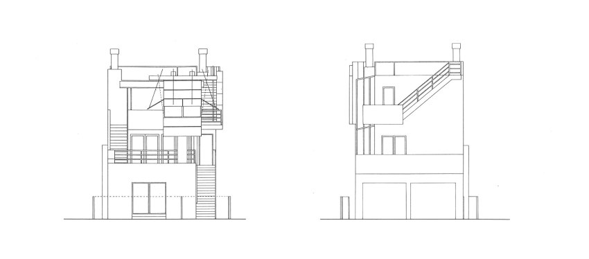Side Elevation - Norton House in Venice Beach / Frank Gehry