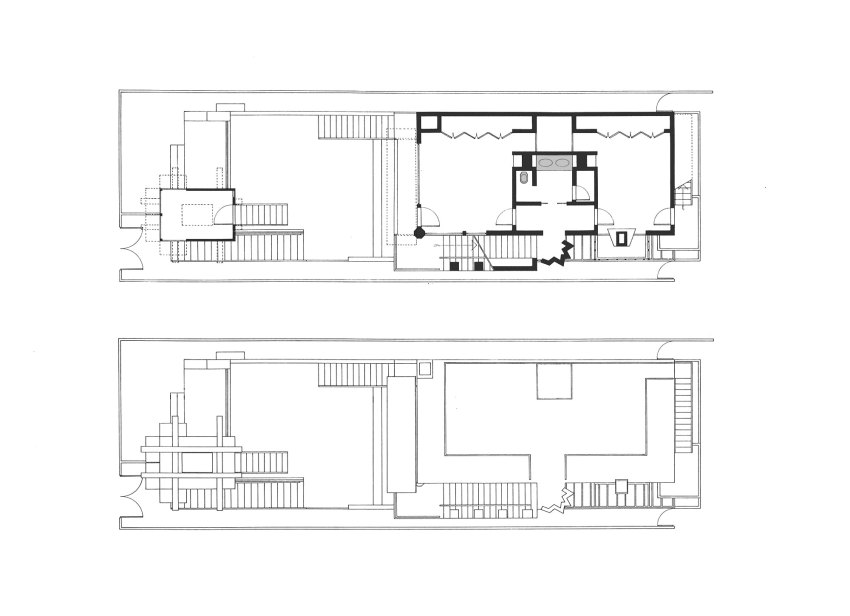 Floor Plan - Norton House in Venice Beach / Frank Gehry
