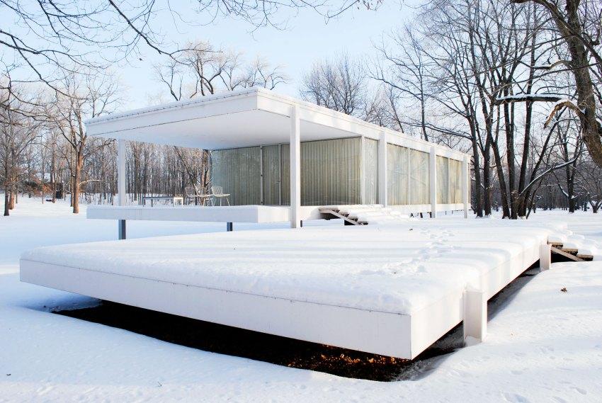 Platform snowerd - The Farnsworth House / Mies van der Rohe