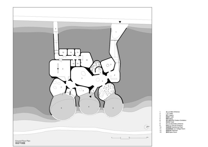 Floor Plan - UCCA Dune Art Museum / OPEN Architecture