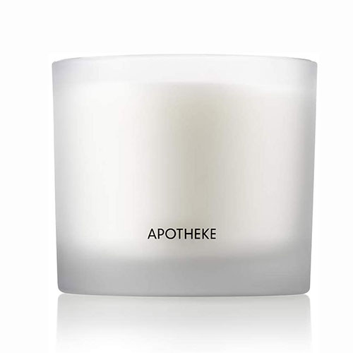 APOTHEKE Luxury Scented 3-Wick Jar Candle, Magnolia Bouquet, 32 oz - Large - Magnolia, Rose, Pepper, Musky Woods Scent, Strong Fragrance, Aromatherapy, Long Lasting, Hand Poured in USA