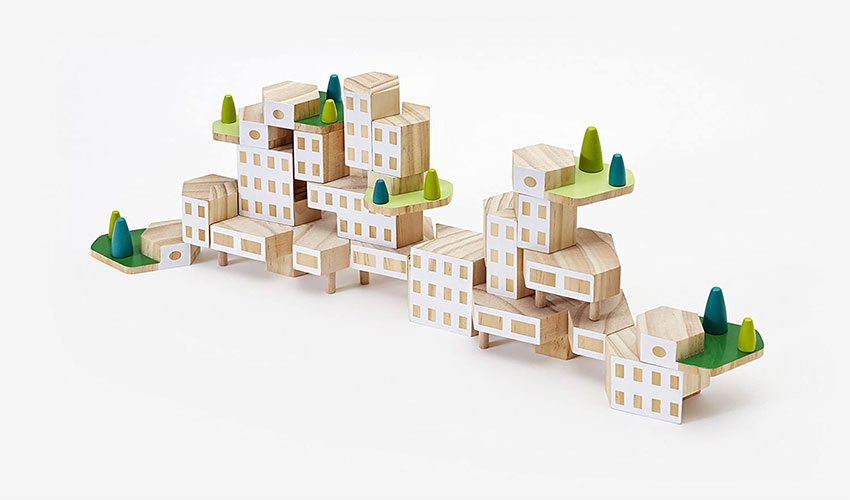 Areaware Blockitecture Garden City Mega Set - Buy Presents for Architects