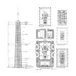 Floor Plans and Section - John Hancock Center at 875 North Michigan Avenue / Skidmore, Owings, and Merrill