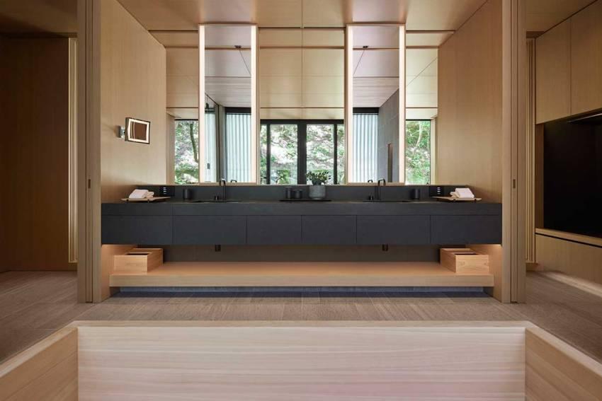 Aman Kyoto Japan Pavilion bathroom - Plumbing Tips for Architects