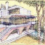 luigi rosselli architects arch texture sketch back