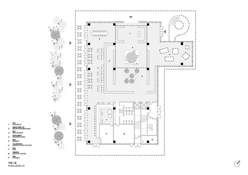 Sanya Farm Lab Floor Plan by CLOU architects