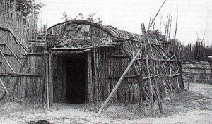 Traditional log homes, were common dwellings known as wiccias.