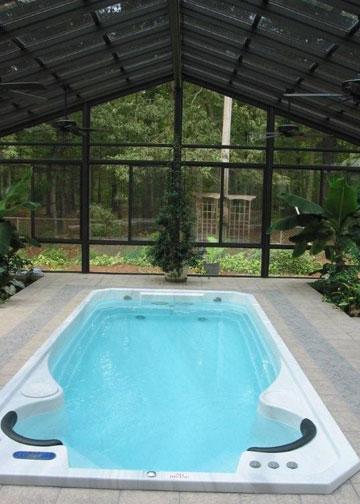 Swim spa enclosure Orangeburg SC  Architectural Glass