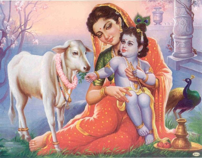 Krishna i mama Yashoda