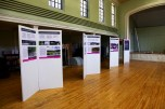 Posters displayed for the Swiss landscape architecture exhibition.
