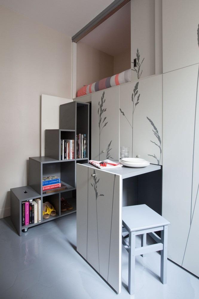 Renovation Chambre De Bonne De 8m2 Agreable Et Moderne En
