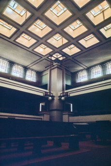 Unity Temple. Ruth and Rick Meghiddo, 1971. All Rights Reserved.