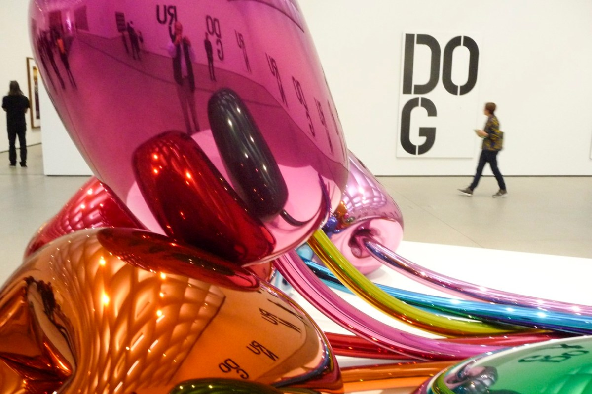 The Broad. Sculpture by Jeff Koons. Copyright Ruth and Rick Meghiddo, 2015. All Rights Reserved.
