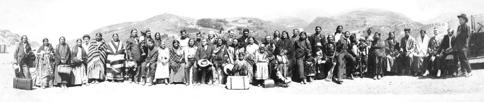 American natives, California. Photo by H. A. Brooks, 1916.