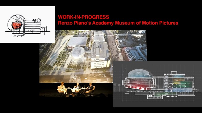 Renzo Piano and Kerry Brougher at theThe Samuel Goldwyn Theater