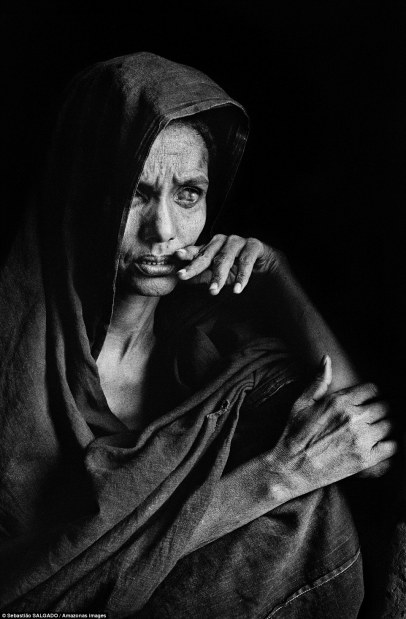 Blind Woman. Photo by Salvador Salgado.