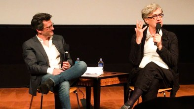 Ben Mankiewicz interviews Wim Wenders. Photo: Ruth Meghiddo.