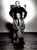 Jasper Johns with Leo Castelli.