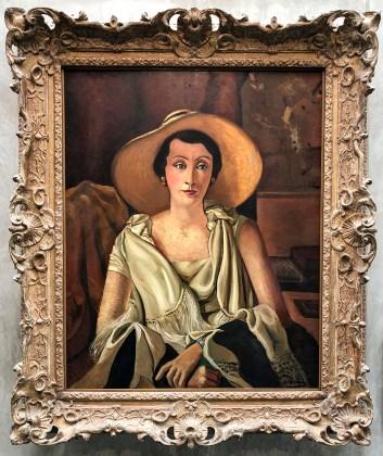 Andre Derain, Andre Derain, Portrait de Madame Paul Guillaume au grand chapeau (1929)