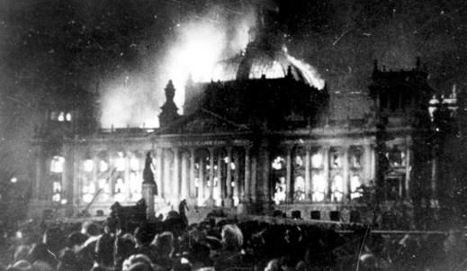 Burning Reichstag - 1933