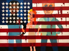 The Flag is Bleeding, 1967, by Faith Ringgold.