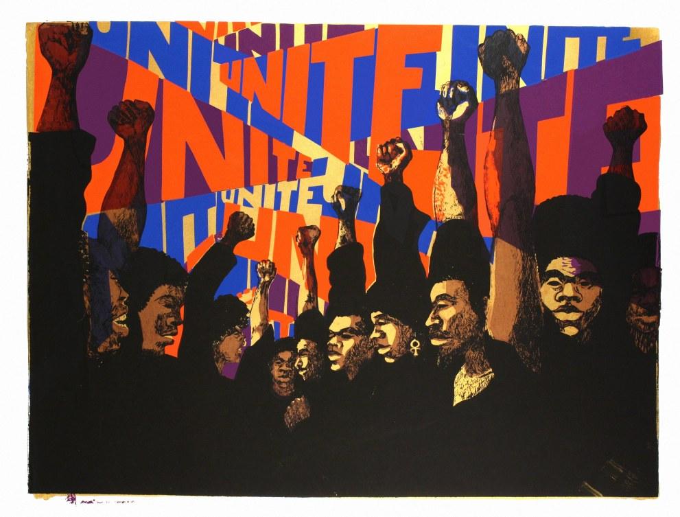 Unite, 1971, by Barbara Jones-Hogu.