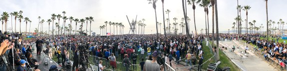 Bernie rally in Venice, CA