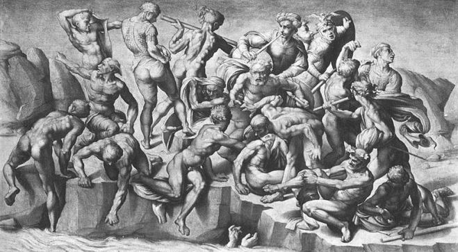 Michelangelo's Battle of Cascina, 1504