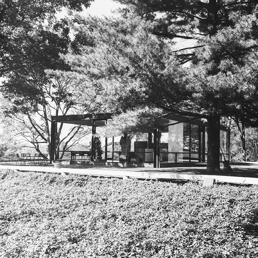 Glass House, New Canaan, 1949. Architect: Philip Johnson. Photo: R&R Meghiddo.