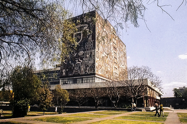 Ciudad Universitaria, Mexico City. Mural by Juan O'Gorman. Photo: R&R Meghiddo