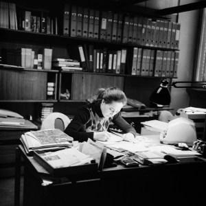 """La Signorina"" - Pellegrin's secretary -Photo R&R Meghiddo"