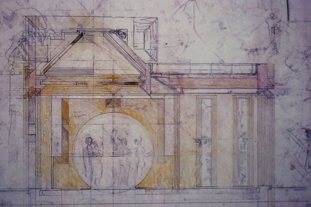 Drawing by Carlo Scarpa