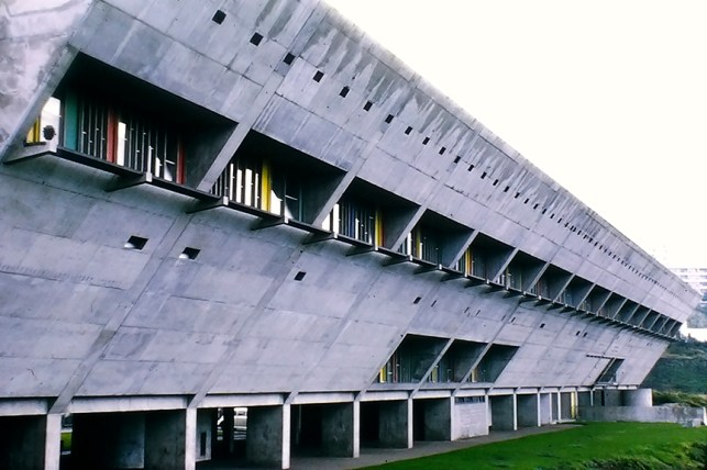 Firminy - Maison de la Culture, 1965. Architect: Le Corbusier - © R&R Meghiddo 1968 – All Rights Reserved