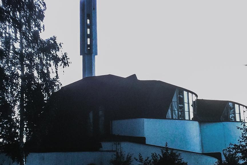 Imatra - Vuksenniksa Church, 1958. Architect: Alvar Aalto - © R&R Meghiddo 1968 – All Rights Reserved