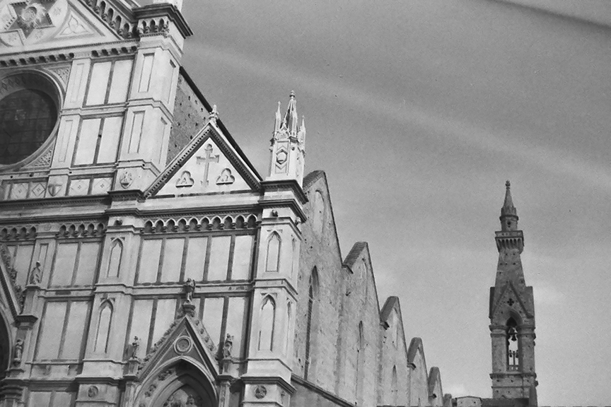 Florence - Santa Croce, 1443 - © R&R Meghiddo 1967 – All Rights Reserved