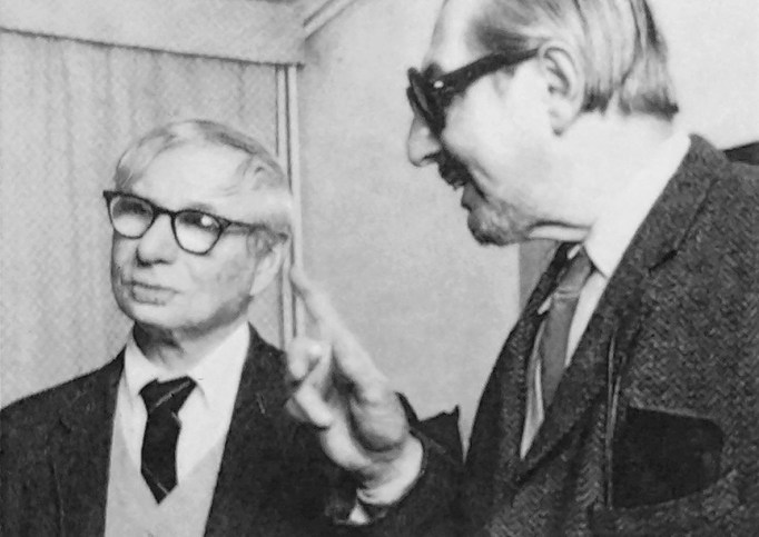 Carlo Scarpa with Louis Kahn