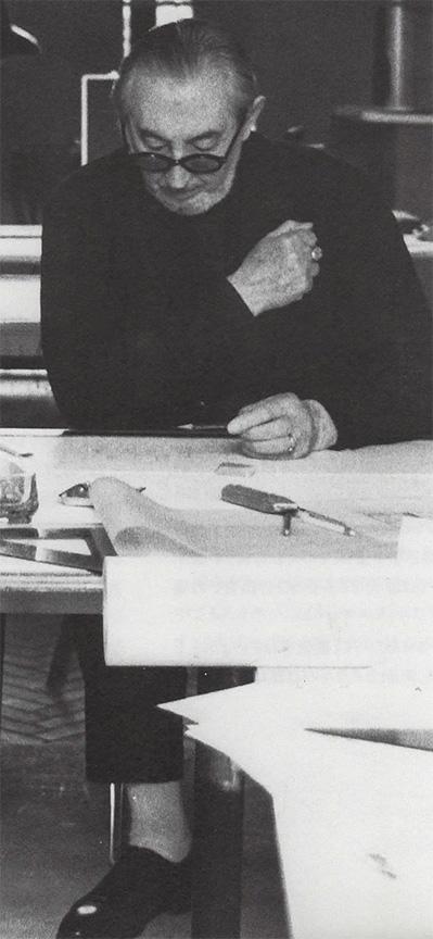 Carlo Scarpa at his studio