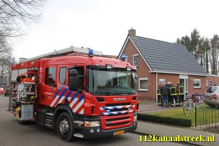 11-03-2016 woningbrand Oostersingel Vlagtwedde