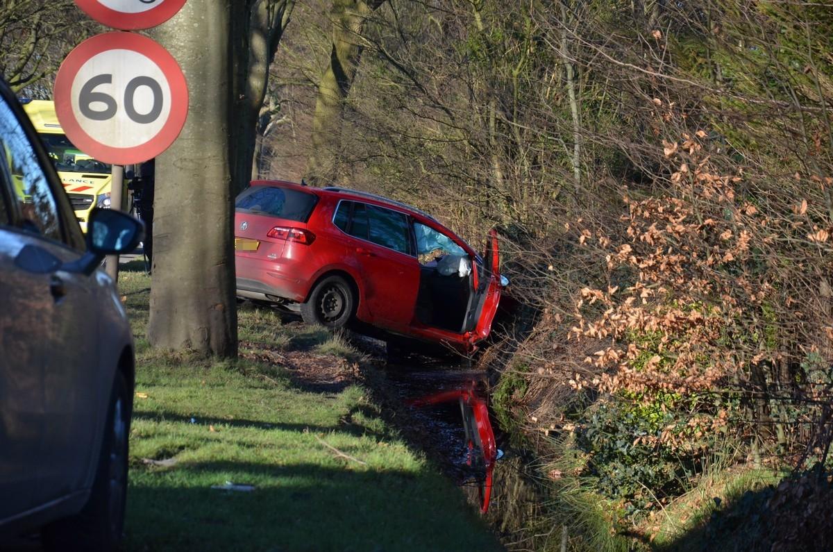 07-01-2018 Ongeval Wensenkampweg Vlagtwedde