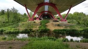Les bords de Seine à Nanterre, sous la A14, une construction d'Odile Decq