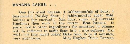 Banana cakes recipe