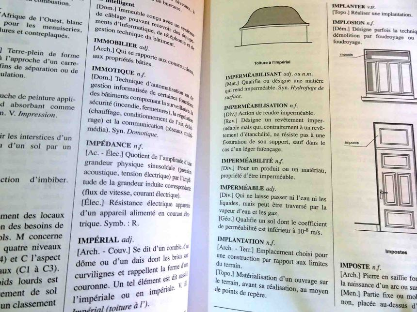 Dictionnaire professionnel du BTP livre