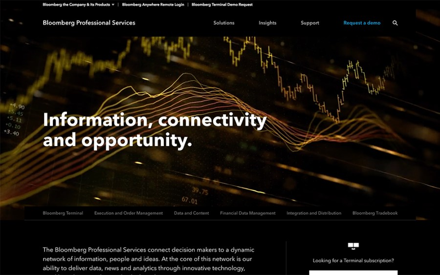 Bloomberg Professional - Awesome Websites powered by WordPress
