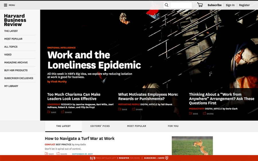 Harvard Business Review - Awesome Websites powered by WordPress