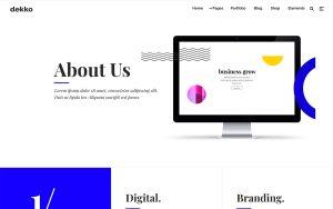 Dekko Architecture Resume WordPress Theme