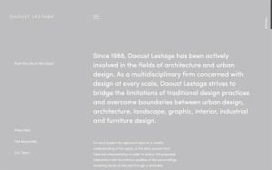 Daoust Lestage - Best Architecture Websites 2018
