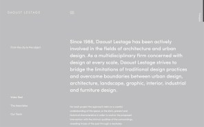 Daoust Lestage - Best Architecture Websites 2018