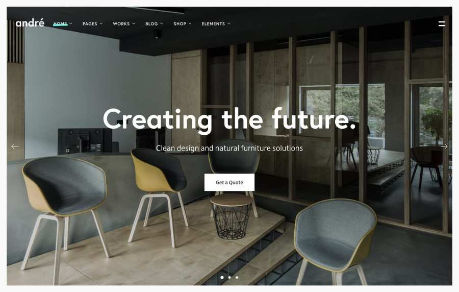 Andre - Best Architecture WordPress Themes