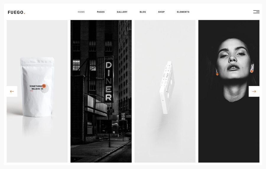 Fuego Best Portfolio WordPress Themes