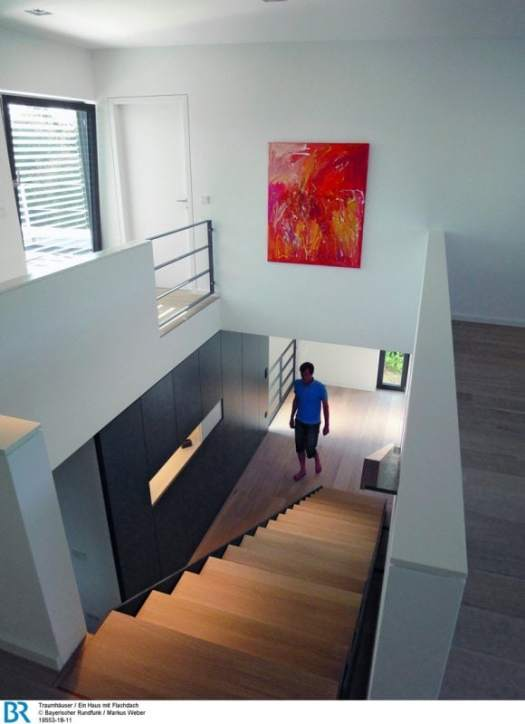 Blick von der Galerie im Obergeschoss.